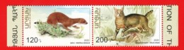 Armenien / Armenie / Armenia / Karabakh 2020, Preservation Of The Wildlife, Cat Weasel, Strip - MNH - Armenien