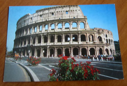 ROMA Colosseo Bus Cartolina Non Viaggiata - Colisée