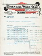 D. Van Der Werf Gzn Bouwstoffen, Sneek, 1933 - Netherlands