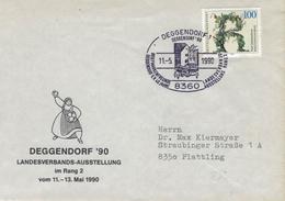 Illustrierter Brief - 8360 Deggendorf 1990 - 5 Jahrhunderte Riesling-anbau Wein - [7] Repubblica Federale