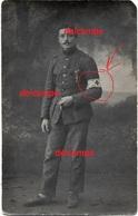 Orgineel Photo Belgian Soldier Brancardier With ID Eduard Van Ginderdeuren On The Front Soldat Aumônier Infirmiers - 1914-18