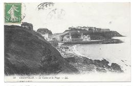 50 - GRANVILLE - Le Casino Et La Plage - Ed. LL N° 54 - 1913 - Tampon Albert MÉTAYER St Jean Des Champs (Manche) - Granville