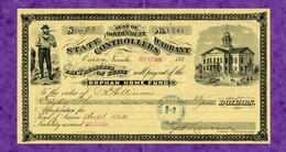 USA Check Nevada Seat Of Government State Controllers Warrant CARSON 1886 - Non Classificati
