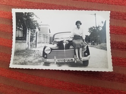 Photo Originale Rolls - Royce Voiture Automobile Jeune Femme Sur Le Capot - Cars