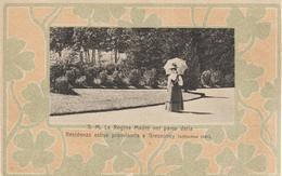 198-Savoia-Case Reali-Royal Houses-Maisons Royale-S.M.La Ragina Madre Nel Parco A Gressoney - Familias Reales
