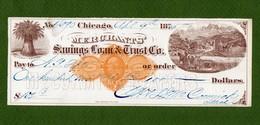 USA Check Merchants' Savings Loan & Trust Co. Chicago 1875 - Non Classificati