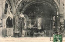 D88  MONTHUREUX LE SEC  Intérieur De L'Église  La Nef  ..... Carte Peu Courante - Autres Communes