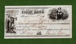 USA Check ILION BANK Herkimer State Of New York 1861 CIVIL WAR ERA - Unclassified