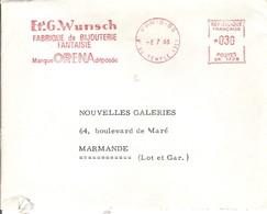 EMA FRANCE SCHMUCK BIJOU FABRIQUE WUNSCH FANTAISIE ORENA PARIS TEMPLE 1966 - Relojería