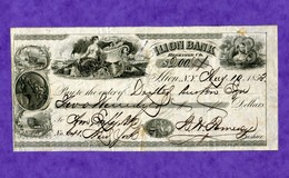 USA Check Ilion Bank Herkimer County New York 1853 - Non Classificati