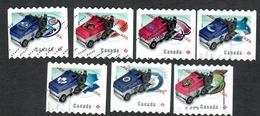 Sc. # 2779-85 NHL Zamboni Ice Resurfacing Machine Coil Set Used 2014 K659 - 1952-.... Règne D'Elizabeth II