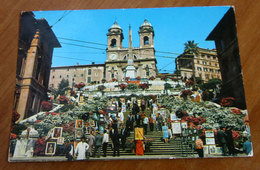 ROMA Piazza Di Spagna Trinità Dei Monti  Cartolina  1982 Viaggiata - Places & Squares