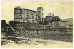 CPA DE LOURMARIN  (VAUCLUSE)  LE CHÂTEAU - Lourmarin