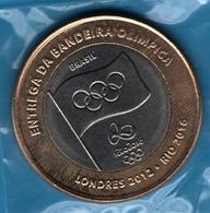 BRASIL 1 REAL  2012  JO LONDRES 2012 - RIO 2016 KM# 679 ENTREGA DA BANDEIRA OLIMPICA - Brasil