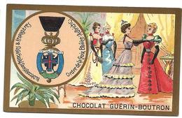 CHROMO ANCIEN  - Médaille Ordre De La CROIX ÉTOILÉE - AUTRICHE - Publicité GUÉRIN-BOUTRON - Autres