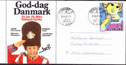 Dänemark Denmark Danemark - Zeitgenössische Kunst 'Mädchen Mit Vogel' Von Wiinblad (MiNr: 855) - Karte - Dänemark