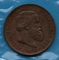 BRASIL 10 REIS 1869 KM# 473 Emperor Pedro II (1831 - 1889) - Brasil
