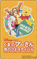 Japan NTT Free Phonecard Disney Winnie The Pooh 110-191028 - Disney