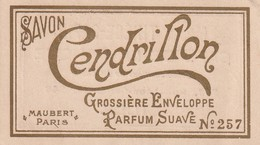 Carte Parfumée - Savon Cendrillon - Maubert Paris - Maison Thiése-Sapin - Lille - Antiguas (hasta 1960)