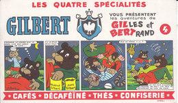Buvard Café Gilbert ,les Aventures De Gilles Et Bertrand - Café & Thé