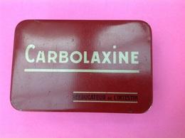 Boite Médicament CARBOLAXINE ( Réducteur De L'intestin) En Fer Dim: 12x8x4,5cm Hauteur. - Boxes