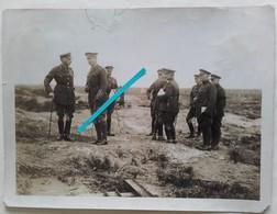 1916 1918 Flandern Flandres ALBERT 1er Visite Lignes Anglaises Front Tranchée 14 18 Poilu 1WK WW1 Photo - Krieg, Militär