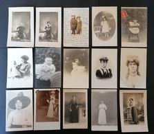 Lot De 38 Carte Photos. Portraits. A Voir. - 5 - 99 Cartoline