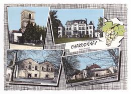 71 Chardonnay Entre Tournus Et Macon N°3 En 4 Vues Et Blason VOIR ZOOM Cave Coopérative Raisin Dauphine Renault - Macon