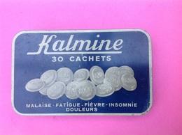 Boite Médicament KALMINE ( P. MÉtadier V Pharmacien ) En Fer Dim: 14x8,7x2cm Hauteur. - Boxes
