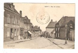CPA 10 ERVY Rue De La Gare Bonlangerie - Boulanger - Maisons Attelage ( Au Fond ) Cachet Convoyeur St Florent > Troyes - Ervy-le-Chatel