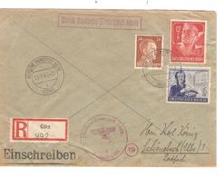 REF1249/ Deutsches Reich Registered Cover C.Deutsche Dienstpost Adria 13/9/44 Görz Censored > Schönebeck (Elbe) - Allemagne