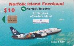 Télécarte à Puce NORFOLK - AVION NOUVELLE ZELANDE - AIR NEW ZEALAND  - PLANE Chip Phonecard - Aviation 2401 - Norfolk Island