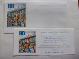 Invitation BD Constanta 2005 Fusée Tintin Salonul International Al Benzil Desenate Roumanie Romana Bande Dessinée - Autres Collections