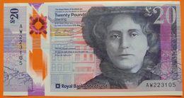 Scotland 20 Pounds 2019 UNC P- NEW < Royal Bank Of Scotland > Polymer - Scozia
