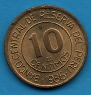 PERU 10 CENTIMOS 1986 GRAND ALMIRANTE M.GRAU - Peru