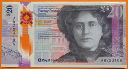 Scotland 20 Pounds 2019 UNC P- NEW < Royal Bank Of Scotland > Polymer - 20 Pounds