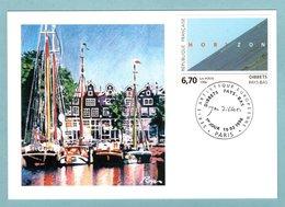 Carte Maximum 1996 - Dibbets - Pays-Bas - YT 2987 - Paris - Cartoline Maximum