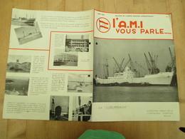 Agence Maritime Internationale Congo Belge Le Lubumbashi 1954 - Publicités