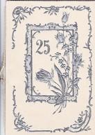 Glückwunsch Zur Silbernen Hochzeit - Silberdruck - 10,5*7cm (50312) - Mariage
