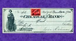 USA Check Chemical National Bank Of New York 1900 - Non Classificati