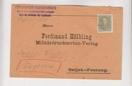 SLOVENIA AUSTRIA  1916 LJUBLJANA LAIBACH Cover To OSIJEK CROATIA HUNGARY - Slowenien