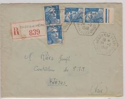 LSC - REC; CASES De PENES / 24.2.1948 - Marcophilie (Lettres)