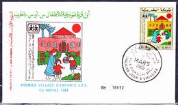 Marokko - 1. SOS-Kinderdorf (MiNr: 1064) 1985 - FDC - Marokko (1956-...)