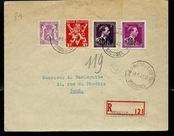 Doc. De BRUXELLES - BRUSSEL  - 19 D -  Du 08/05/47  En Rec.  Avec N° 724 B Et D - 1946 -10%
