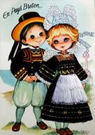EN PAYS BRETON  - Editions Vacances (Référence/N° Petits Enfants De Pont Aven)  - Carte Brodée (Format CPM) - Brodées