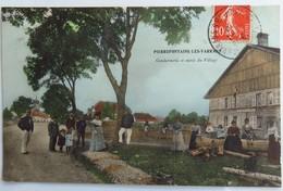 C. P. A. Couleur : 25 PIERREFONTAINE LES VARRANS : Gendarmerie Et Entrée Du Village, Animé, Timbre En 1910, SUPERBE - France