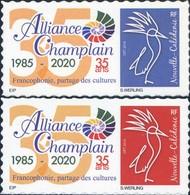 Nouvelle Calédonie - Timbre Personnalisé - Alliance Champlain 35 Ans - Unused Stamps