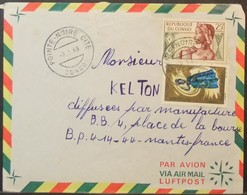 Congo - Cover To France 1968 Doll Costumes - FDC