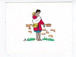 """Mission FJKM Faza Madagascar  """" La Mère Et L'Enfant """"  Carte Double TBE - Misiones"""