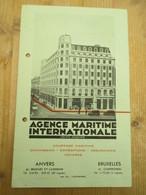 Agence Maritime Internationale Antwerpen 1930 Haven Schelde - Publicités